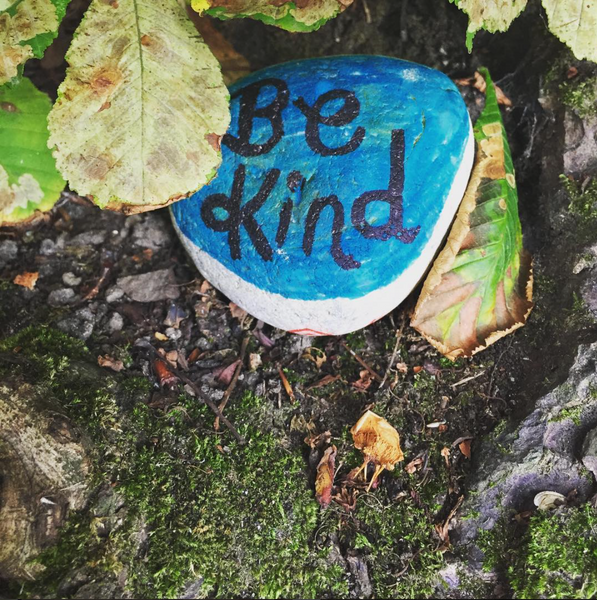 be kind painted pebble