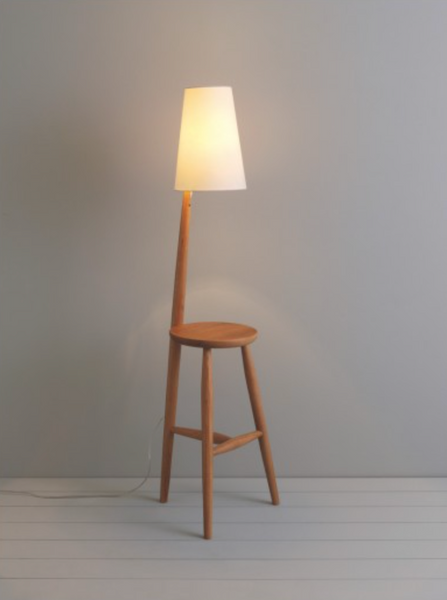 WALLACE WOODEN TABLE AND LAMP
