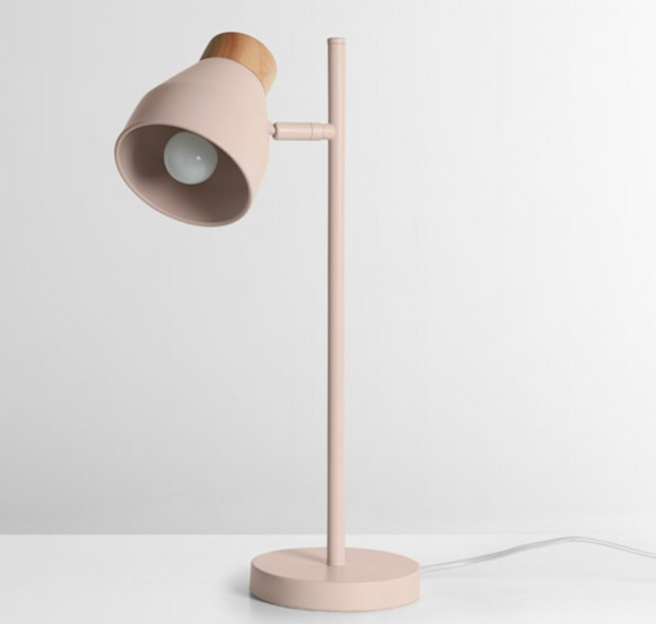 ALBERT PINK TABLE LAMP FROM MADE.COM