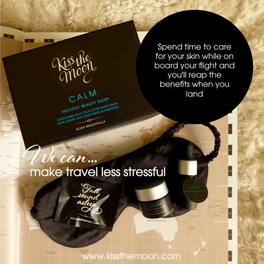 Kiss the Moon Inflight Beauty Sleep set for travellers