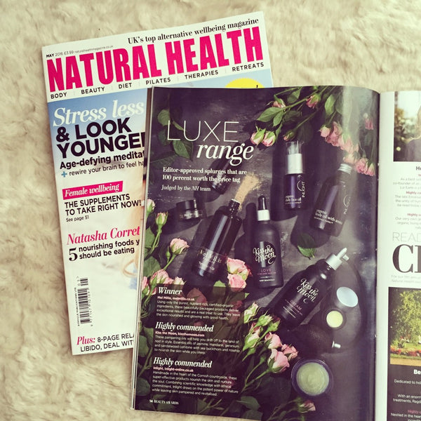 Natural Health Magazine Awards 2016 featuring Kiss the Moon