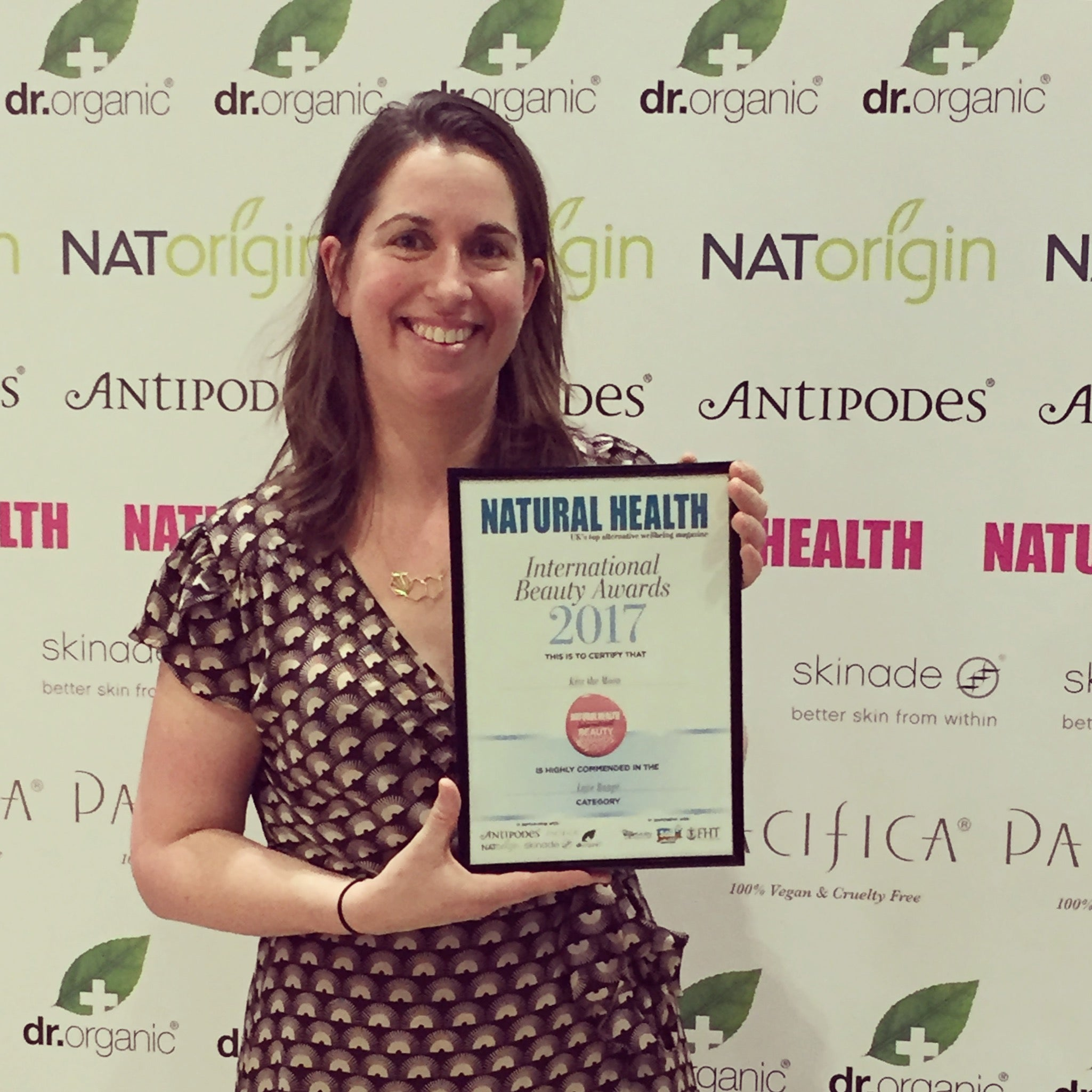 Natural Health Beauty Awards 2017 - featuring Kiss the Moon