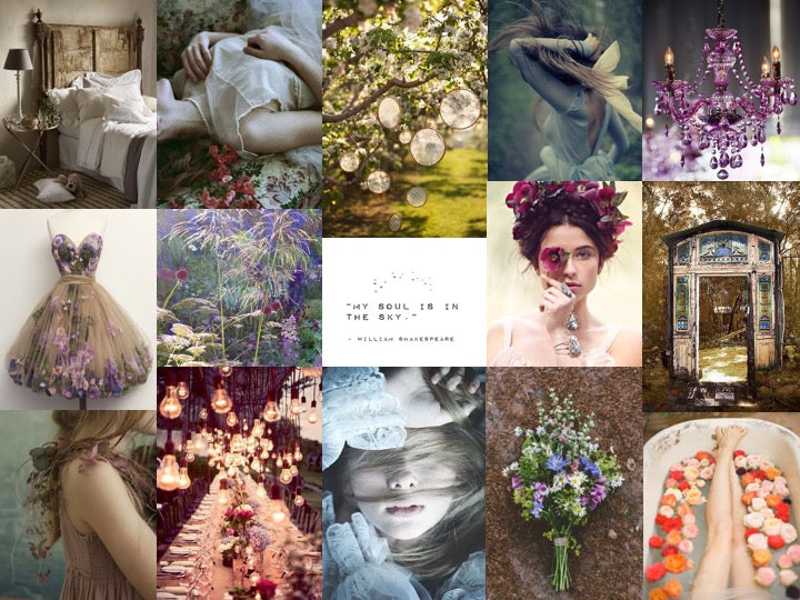 Kiss the Moon June 2016 Inspiration Board Midsummer Nights Dream