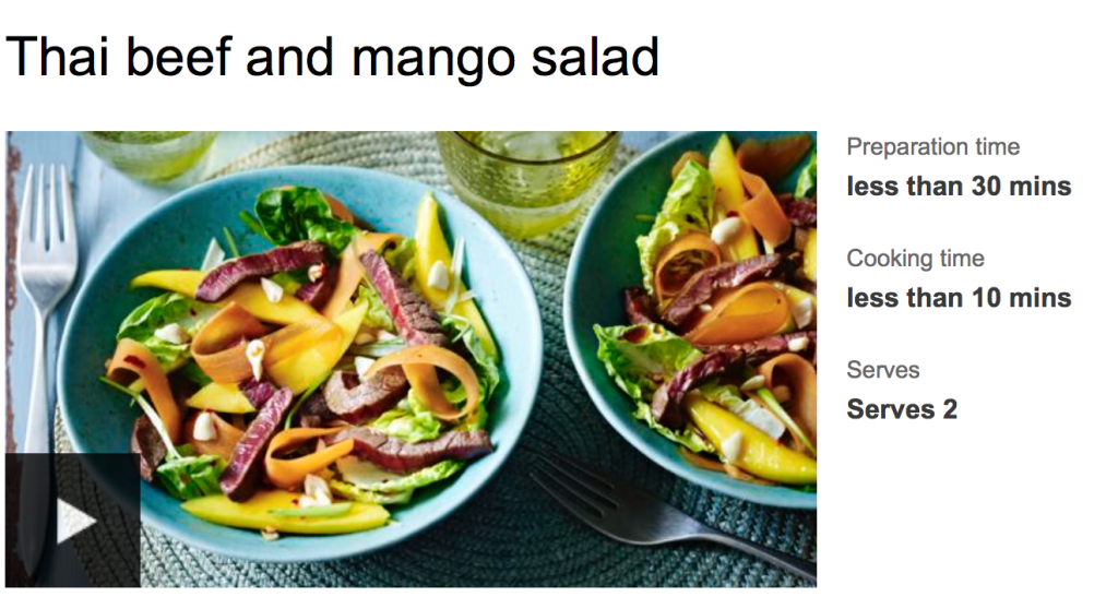 Thai Beef and Mango Salad from bbcfood.co.uk