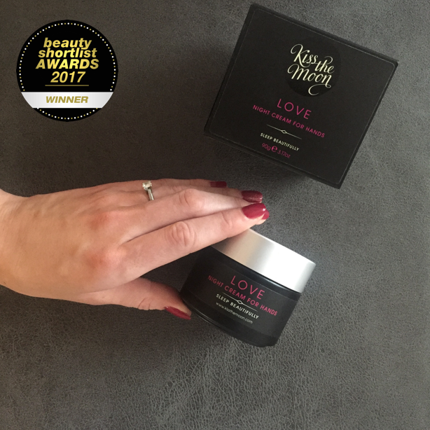 Beauty Shortlist Award 2017 Winner LOVE Night cream for Hands from Kiss the Moon