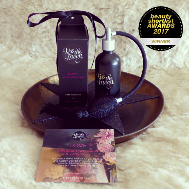 Beauty Shortlist Award 2017 Winner LOVE After Dark Pillow Mist from Kiss the Moon