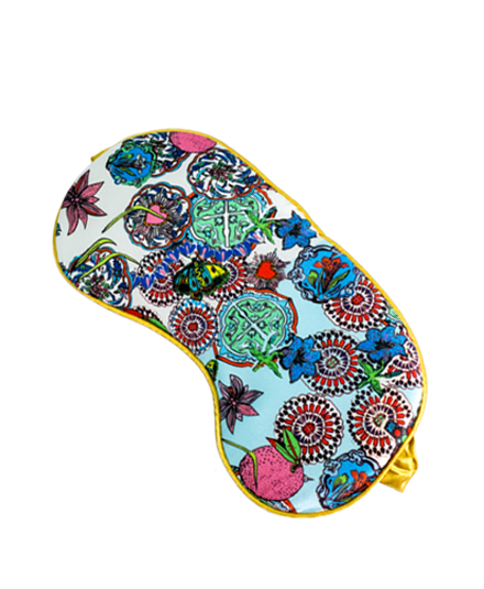 <strong>JESSICA RUSSELL FLINT</strong> <br/> ROCK THE KASBAH<br/> Silk Sleep Mask