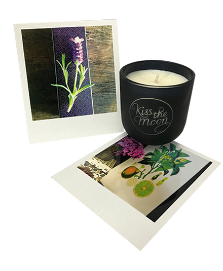 <strong>DREAM</strong> <br/> TRAVEL SIZE AROMATHERAPY SOY CANDLE<br/> Lavender & Bergamot