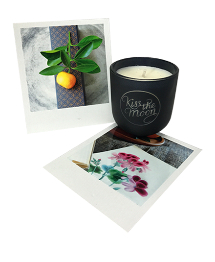 <strong>GLOW</strong> <br/> TRAVEL SIZE AROMATHERAPY SOY CANDLE<br/> Orange & Geranium