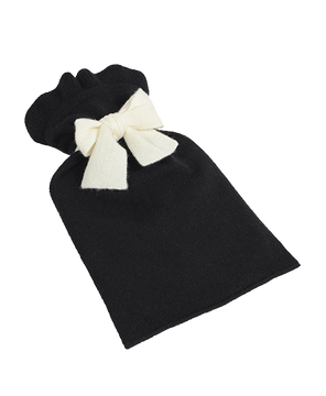 HOT WATER BOTTLE CASHMERE COVER Handcrafted cover & bottle