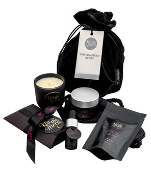 <strong>LOVE & DREAM</strong> <br/> SLEEP BEAUTIFULLY GIFT SET<br/> Bath Salts, Candle, Face Oil, Hand Cream & Sleep Mask