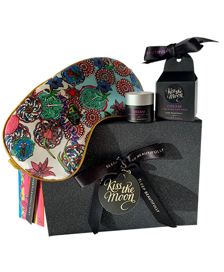 <strong>DREAM</strong> <br/> DEEP SLEEP GIFT SET <br/> Sleep Balm + 'Rock the Kasbah' Luxury Silk Sleep Mask