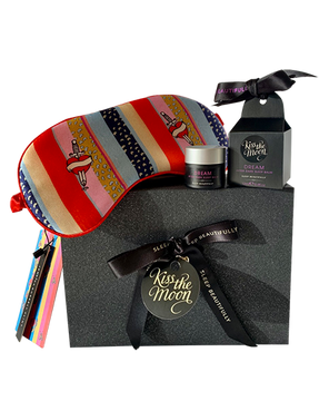<strong>DREAM</strong> <br/> DEEP SLEEP GIFT SET <br/> Sleep Balm + 'Kansas' Luxury Silk Sleep Mask