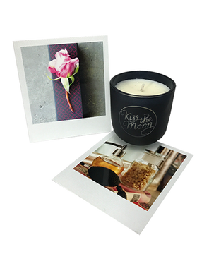 <strong>LOVE</strong> <br/> TRAVEL SIZE AROMATHERAPY SOY CANDLE<br/> Rose & Frankincense