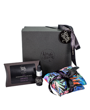 GIFT SET AROMATHERAPY DROPS & EYE PILLOW Relax & soothe  with Lavender & Bergamot