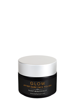 <strong>GLOW</strong> <br/> TRAVEL SIZE FACE POLISH <br/> Natural brown sugar exfoliator