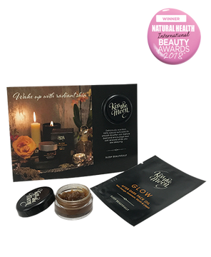 <strong>GLOW</strong> <br/> AFTER DARK SKIN REVIVAL SAMPLE SET <br/> Face Polish & Face Oil