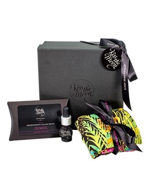 GIFT SET AROMATHERAPY DROPS & EYE PILLOW Relax & rejuvenate with Rose & Frankincense