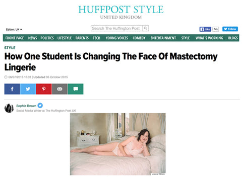 Huffington Post, mastectomy lingerie article