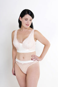 Luxurious pocketed bra specifically designed for women post mastectomy and post-surgery