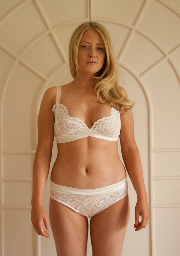 Sample Sale - Aurora Triangle Bra Size Small Ivory