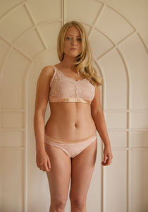 Sample Sale - Aurora Bralette Size Medium Blush