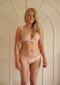 Sample Sale - Aurora Triangle Pocketed Bra Size Small Blush