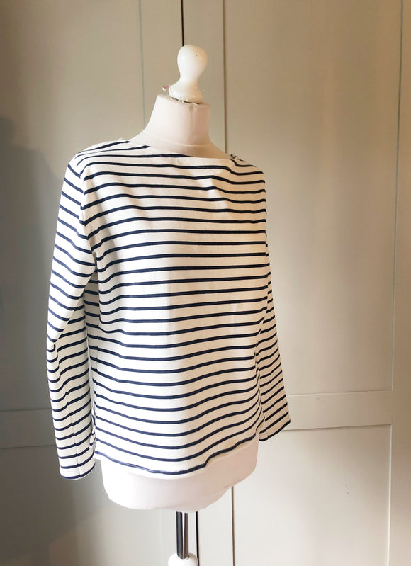 Ella stripe top, luxury long sleeve