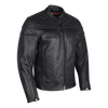 Vance Leather Men's Racer Jacket with Zippered Vents