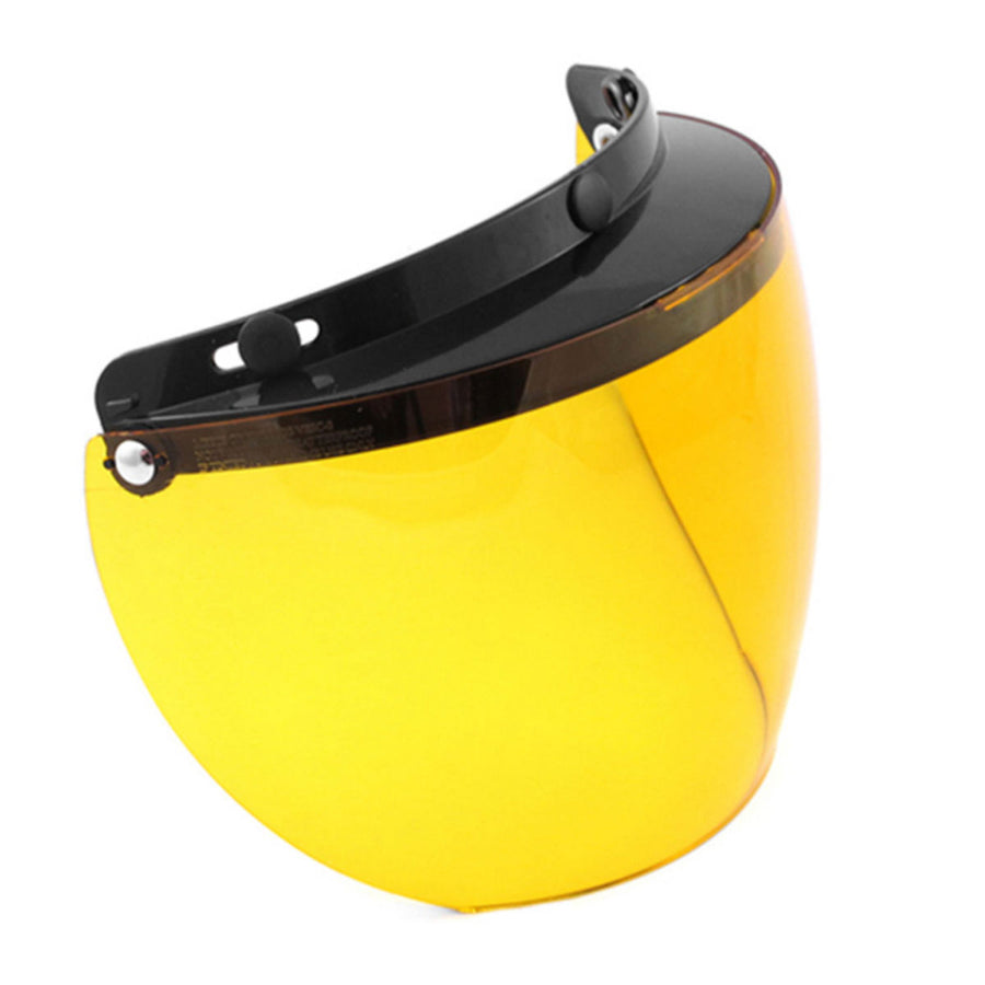 Daniel Smart Three Snap Flip Helmet Shield , Hard Coated Amber