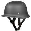 D.O.T. German Dull Black Helmet