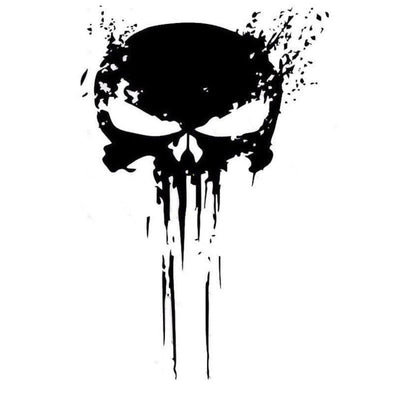 Punisher Skull Sticker Vinyl Decal, 4 x 6 in