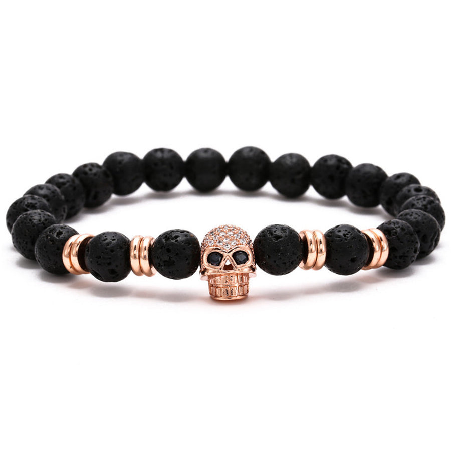 Skull Bracelet for Bikers (20cm)
