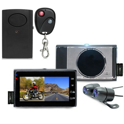 Motorcycle Dual Dash Cam + FREE Anti-Theft Alarm