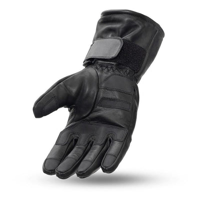 First Manufacturing Waterproof Gauntlet Leather Gloves, Size XS-3XL, Black