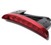 Motorcycle Red Lens Chopped Rear Fender Tail 0.18W LED Light, PC/ABS, 12V