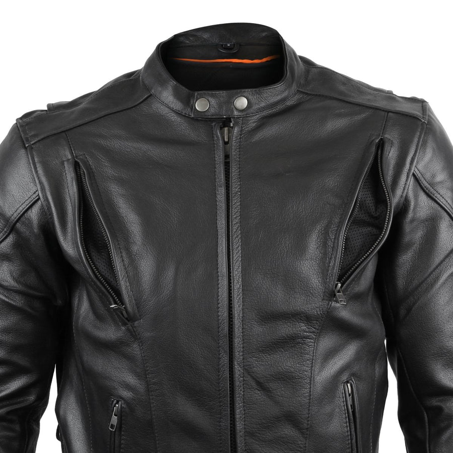 Vance Cowhide Leather Fully Lined Racer Jacket
