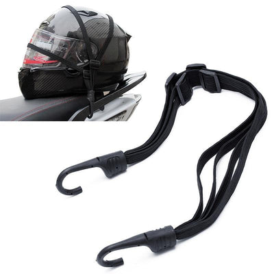 Motorcycle Helmet Luggage Elastic Strap With 2 Hooks