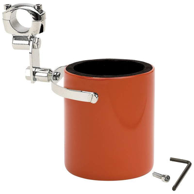 Jillian Diamond Plate Stainless Steel Motorcycle Cup Holder, Pink, Orange
