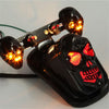 Motorcycle Skull Taillight with Turn Signal