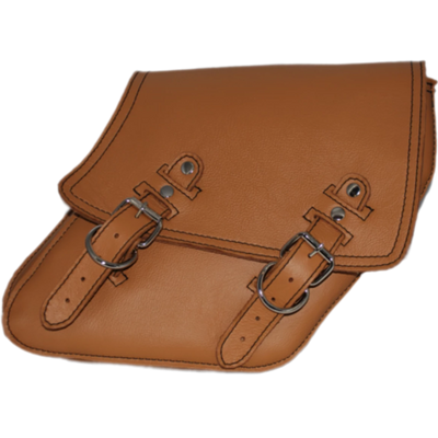 La Rosa Plain Leather Solo Saddle Bag