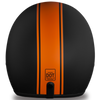 D.O.T. Cruiser Orange Pin Stripe Helmet