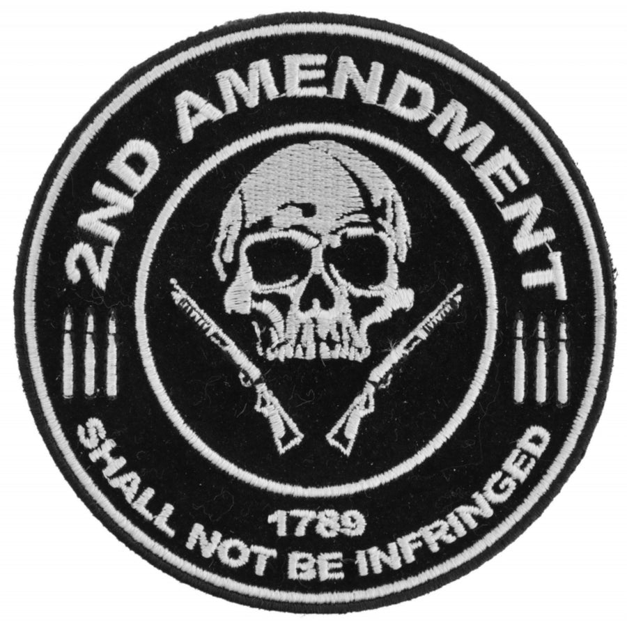 Daniel Smart 2nd Amendment Shall Not Be Infringed Skull 1789 Patch