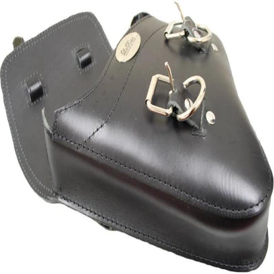 La Rosa Harley-Davidson V Rod Left Side Solo Saddle Bag, Black Leather