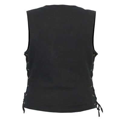Daniel Smart Single Back Panel Concealed Carry Denim Vest
