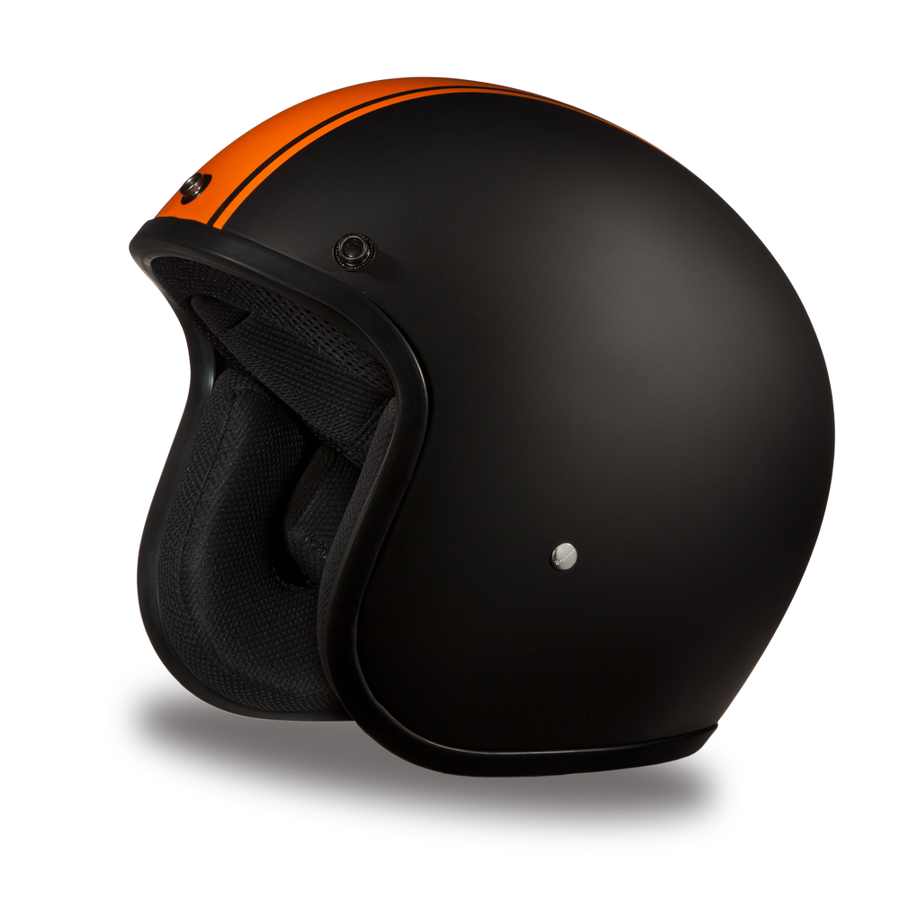 D.o.t Cruiser Orange Pin Stripe Helmet