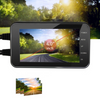 Motorcycle Black Dual Lens Dash Cam Video Recorder 4 Inch HD 1080P