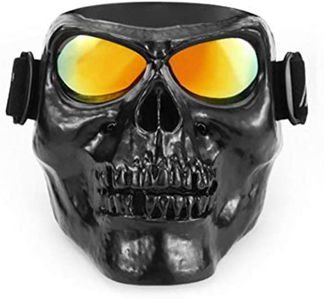 Skull Face Mask with Goggles