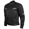 Vance Leather Men's Black Mesh Motorcycle Jacket with Insulated Liner and CE Armor