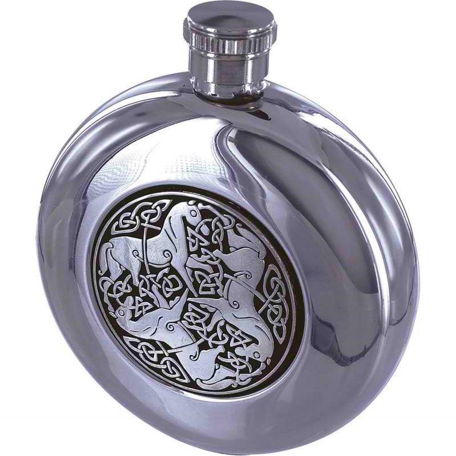Jillian 5oz Stainless Steel Flask with Celtic Horse